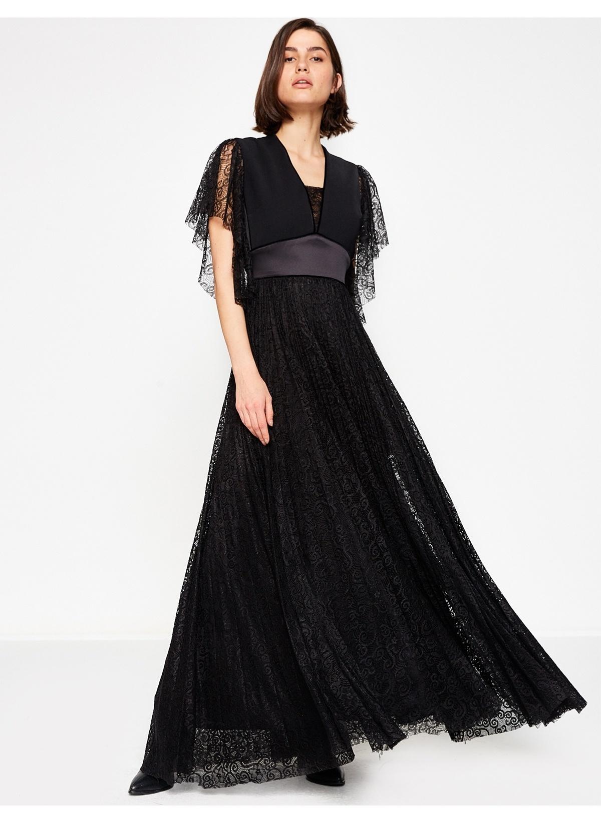 af8d576e59dc9 Koton Kadın Uzun Abiye Elbise Black | Morhipo | 20395592
